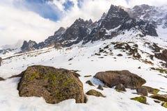 Planen Sie de L'Aiguille, Chamonix Mont Blanc, Frankreich Stockbild