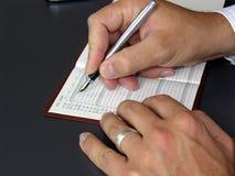 Planen Sie die folgende Sitzung ein Lizenzfreies Stockfoto