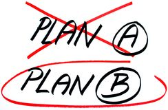 Planen Sie ein Optionen des Planes B Lizenzfreie Stockfotografie