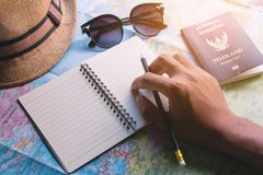 Planen Sie eine Reise stockfotos