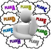 Planen Sie eine verschiedene Änderungs-Strategien B C versuchen noch einmal Stockfoto