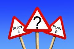 Planen Sie einen Plan B Stockbilder