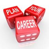 Planen Sie Ihre Karriere-Würfel-Glücksspiel-Zukunft-Gelegenheit Stockfotografie