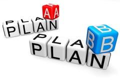 Planen Sie a-und b-Kreuzworträtsel Lizenzfreies Stockfoto
