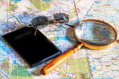 Planen Sie, zu einem anderen Land im Urlaub zu gehen Stockfoto