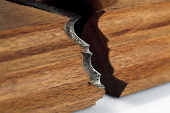 Planer blade for wood. Royalty Free Stock Photo