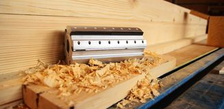 Planer cutter head for wood royalty free stock images