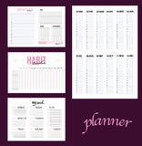 Planer habit tracker blank. Template Royalty Free Stock Images