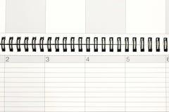 Planer und Kalender Stockfotografie