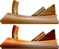 Planer on wood Royalty Free Stock Images