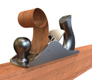 Planer on wood Stock Image