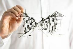 Planera en stad Arkivfoton
