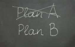 Planera A och planera B Arkivbild