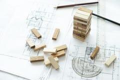 Planera, risk och strategi av projektledning i affär Royaltyfria Bilder
