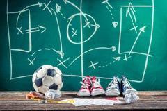 Planera seger matchen i fotboll Royaltyfri Bild
