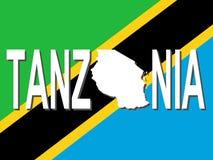 planera tanzania text stock illustrationer