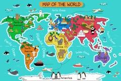planera världen royaltyfri illustrationer