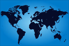planera världen Vektor Illustrationer
