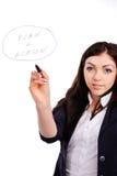 Dra för affärsstrategi Fotografering för Bildbyråer