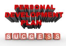 planerar personlig utveckling 3d Royaltyfri Fotografi
