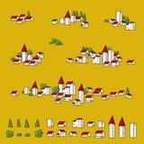 planerar townsvektorn stock illustrationer