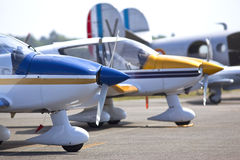 Planes. Tourist planes on an aerodrome royalty free stock photography