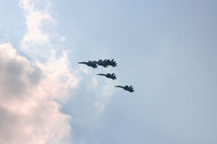 Planes. Modern planes, fighters (Russia, Moscow Stock Photo
