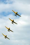 Planes. Formation Flying stock photo