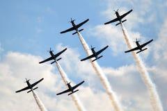Planes, acrobatics Stock Images