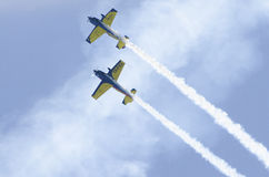 Planes acrobatics Royalty Free Stock Photo