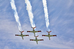 Planes on air parade Royalty Free Stock Image