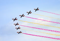 Planes on an air show against clear sky Royalty Free Stock Images