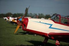 Planes on air show Stock Photos