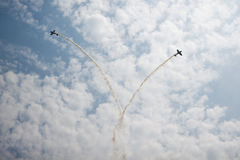 Planes in air stunt show Royalty Free Stock Photo