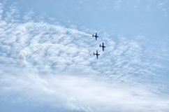Planes during the airshow Royalty Free Stock Photo