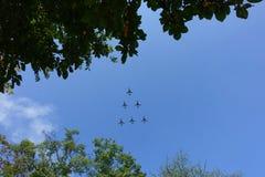 Planes at airshow Royalty Free Stock Photo