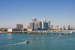 Planes And Boats At Miami Royalty Free Stock Photo