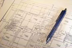 Planes arquitectónicos Fotos de archivo libres de regalías