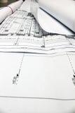Planes arquitectónicos en la visualización Fotografía de archivo