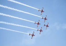 Planes at Australia day 2014 Royalty Free Stock Images