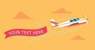 Planes-banners copy Royalty Free Stock Photos