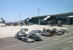 Planes at the Barcelona  airport on May 11, 2010 in in Barcelona, Spain. Stock Image