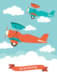 Planes in clouds Royalty Free Stock Photo