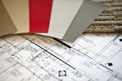 Planes de concepción interiores Fotos de archivo libres de regalías