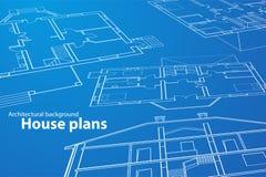 Planes de la casa Fotografía de archivo