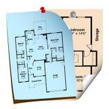 Planes de la casa ilustración del vector