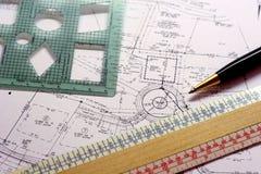 Planes de la construcción imagen de archivo libre de regalías