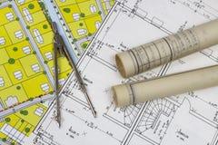 Planes de la construcción Fotos de archivo libres de regalías