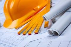 Planes de la construcción Foto de archivo libre de regalías