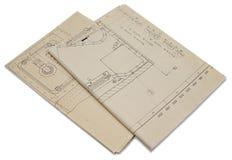 Planes de la ingeniería Imagen de archivo libre de regalías